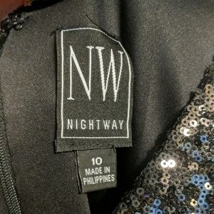 Night Way Collections Dresses - Sequin Black Party Dress